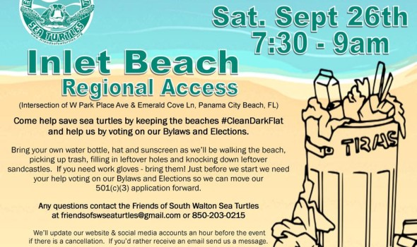 Friends of South Walton Sea Turtles Sept 2015 Trash Bash