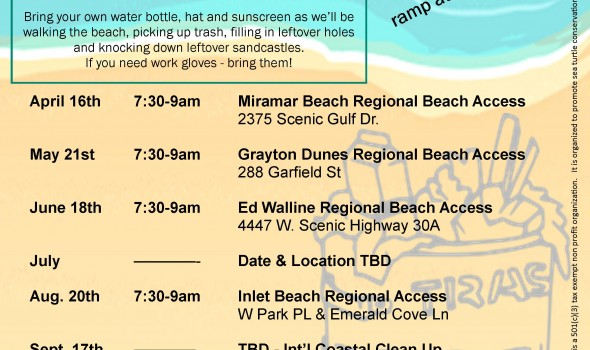 FOSWST 2016 Trash Bash schedule